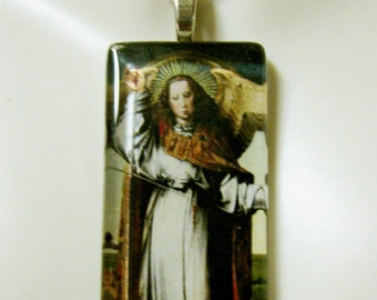 Archangel Michael holding the scales pendant with chain - GP01-362