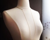 Hammered Split Collar and Chain Necklace in Gold Fill, Rose Gold Fill or Sterling Silver