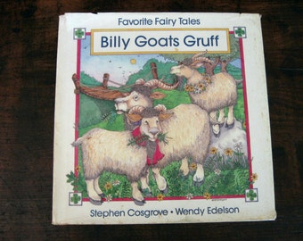 Favorite Fairy Tales Billy Goats Gruff by Stephen Cosgrove illustrated by Wendy Edelson, Vintage Cosgrove Book, Children's Book, Fairytales