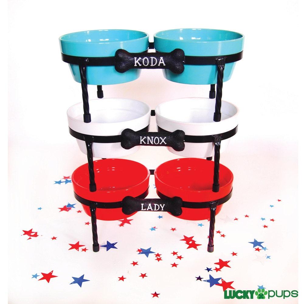 Raised Dog Bowls Diner Ceramic dog bowls Pet Bowls with - photo#35