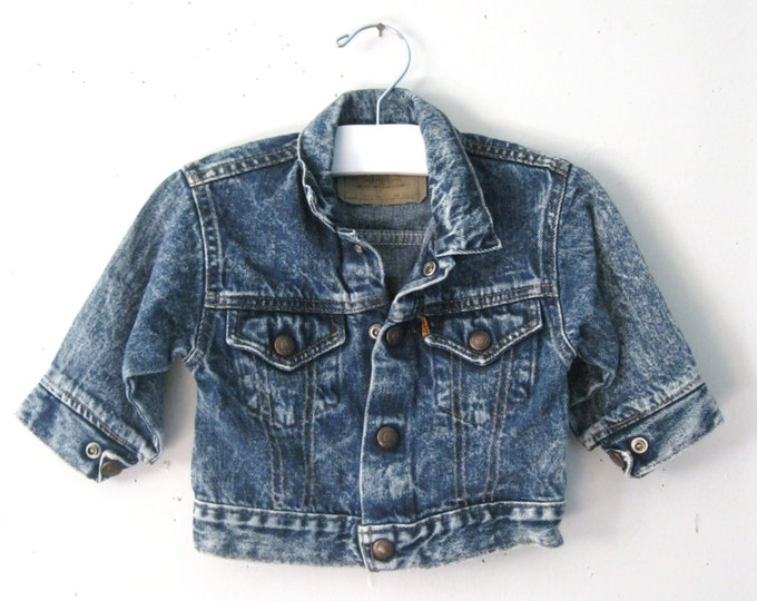 Vintage Children's 80s jean jacket / orange tab Levi's baby denim jacket