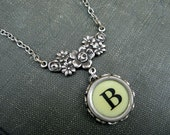 Typewriter Key Necklace - Letter B