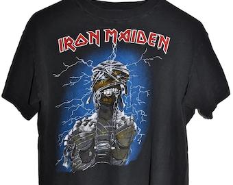 Vintage 80s 1985 IRON MAIDEN World Slavery Tour Heavy Metal Rock Concert T SHIRT