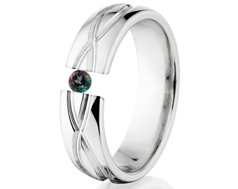 Tension Set Ring, 6mm, Uniquely You, Infinity, Mystic Topaz, 6HR-T8-Infinity