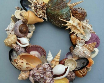 Colorful Shell Wreath or Candle Ring-SW42