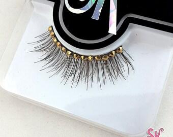 Whisper Fringe 2-Color Rhinestone False Eyelashes - SugarKitty Couture