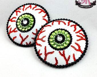 Creepy Eyeball Rhinestone Nipple Pasties - SugarKitty Couture