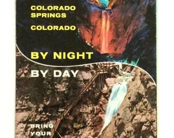 Vintage Colorado Pamphlets . Set of 3 . Seven Falls . Garden of the Gods . Seven Falls . Travel . Tourist . Ephemera . Set 3 Co