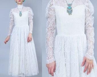 Long sleeve lace wedding dress | Etsy