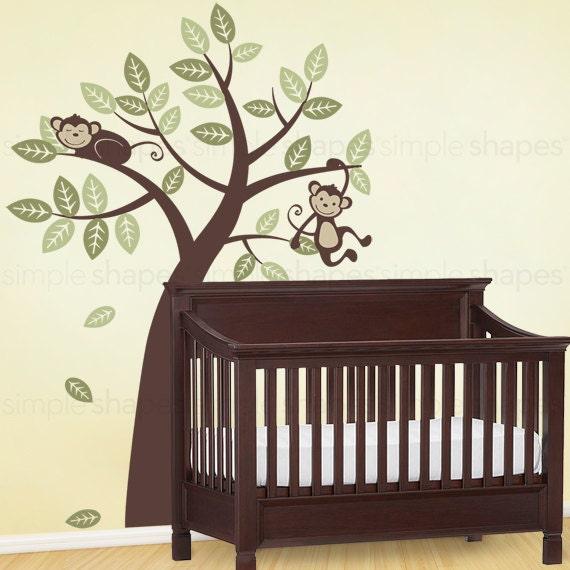 Tree with Monkeys - Kids Vinyl Wall Sticker Decal Art