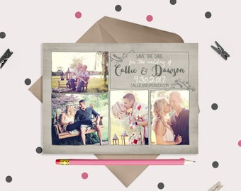 Save The Date Cards or Magnets - 4 photos