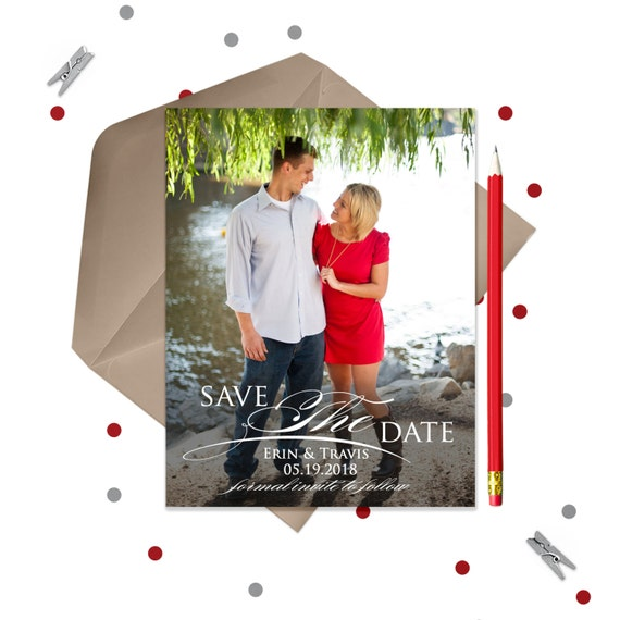 Flourish Save the Date Magnets or Cards · Wedding Save the Dates · 1 Photo Magnet
