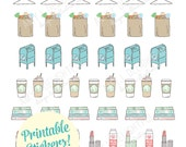 Printable LIFE REMINDER stickers!-Digital File Instant Download-groceries, dry cleaning, date night, Happy planner, erin condren, kikki-k