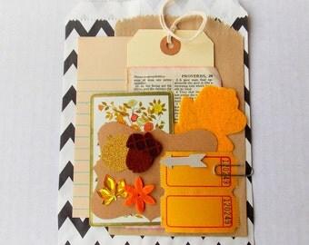 Mini Gift Wrap Kit / Autumn / Party Decor / Party Favor / Holiday