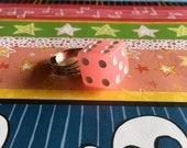 Pink Glow in the Dark Dice Ring - Dice Ring - Vegas - Bachelorette - Casino Ring - Gamble Ring - Bunco Party - Gift - Under 5 dollars