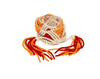 Vintage YVES SAINT LAURENT Belt Woven Rope Beaded Tassel Sash -Deadstock - Authentic -