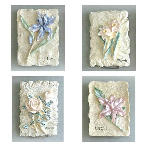 Shabby Chic Flower Plaque 3d Flower Wall Decor 1 Flower Wall Hanging Flower Wall Art Floral