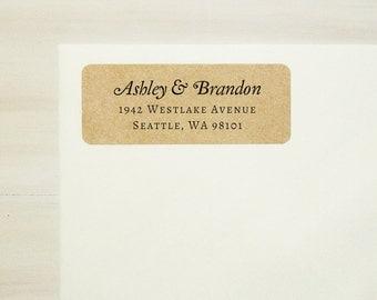 Return Address Labels, Return Address Stickers, Custom Printed Labels, Personalized Address Labels, Wedding Address Labels - Design #17