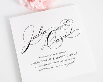 Wedding Program, Wedding Programs, Vintage Glam Design - Wedding Program Deposit