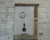 Barometer Rising:  Assemblage Art by Leslee Lukosh of Foundturtle in Portland, Oregon.
