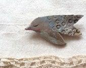 Clay bird brooch 4