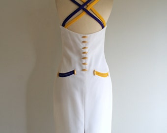 Vintage PIERRE BALMAIN 80s CARNIVAL Cocktail Dress (s-m)