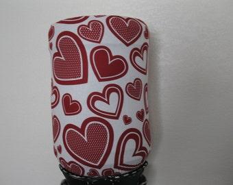 Valentine Decor Cover- white Dark Red