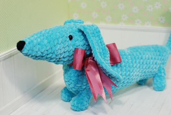 Crochet Toys For Boys : Sale dachshund amigurumi crochet toy animal baby girl boy