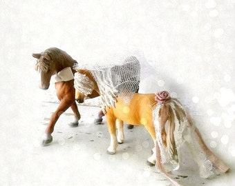 Equestrian Wedding Cake topper. Boho Winter Christmas Wedding, Icelandic Nordic. Tennessee Walker Equestrians. Schleich collectibles