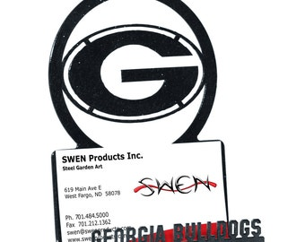 Georgia Bulldogs Metal Business Card Holder