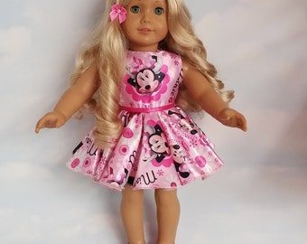 18 inch doll clothes - #310 - Minnie Dress made to fit the American Girl Doll - FREE SHIPPING
