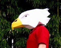 Eagle Mask - Make Your Own Eagle with just Paper and Glue! | Paper Mask | DIY Mask | Mascot | Halloween Mask