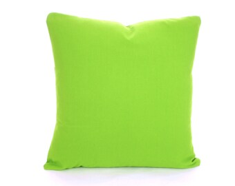 Solid Green Pillow Cover, Throw Pillows, Green Cushions, Decorative Throw Pillow, Pillow Case, Couch Bed Sofa Pillows, One or More ALL SIZES