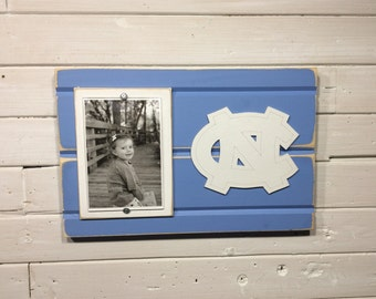 "University of North Carolina picture frame holds 4""x6"" photo, decor"