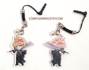 Reversible Final Fantasy VII charm - Cloud Strife (advent children outfit)