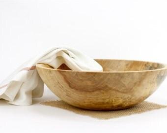 Wood Sycamore Bowl, Wooden Serving Dish, Pasta Bowl
