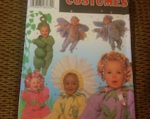 Simplicity 5882 UNCUT Sizes 1/2 , 1, 2, 3, 4 Fairy, Peas, Hydrangea, Rose, Daisy Flowers Costume