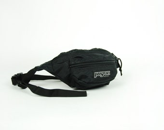 Jansport Black Fanny Pack with Adjustable Nylon Strap