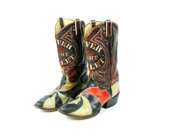 Coors Light Silver Bullet Snakeskin Cowboy Boots!
