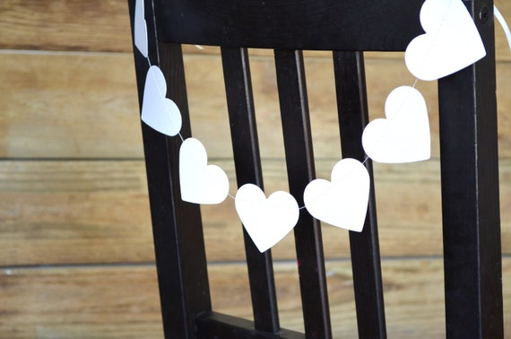 Heart Chair Garland - choose your color!
