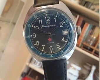 Vintage men's watch Komandriskije Vostok, Zakaz Mo, army wathc, military watch, hight quality watch