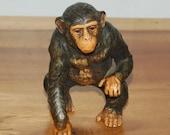 UCTCI Japan Rare Standing Chimpanzee - Vintage Stoneware  Ceramic - Excellent Condition - Original Label~ On Reserve