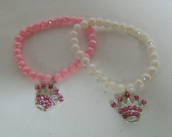 Princess Tiara Bracelet, Pearl Tiara bracelet, Girls Party Favors, Cute girls party favors