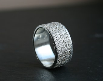 Lacey no 31 - sterling silver lace ring -  READY to SHIP in size 8 or made to order in your size
