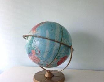 Replogie World Series Globe Vintage Globe Replogle World Nation Series 12 Inch Tilting and  Raised Relief Globe,