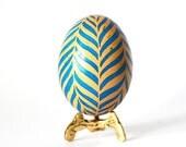 Tribal ornament,Zebra home decor,Pysanka,Ukrainian Easter egg,hand painted Easter decorations for basket,egg hunt party,acid etched eggs
