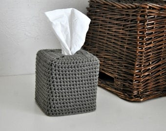 Warm Grey Square Tissue Box Cover Nursery Decoration Home Decor Kleenex Box Cover