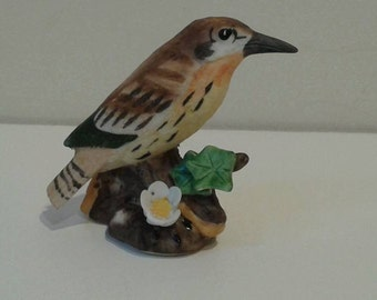 Lefton bird, small, porcelain