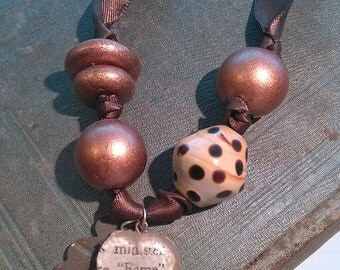 Brown Silk Necklace