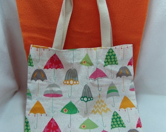 Cotton Shopping bag - umbrellas